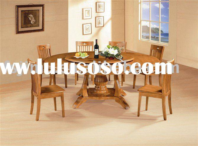 living room furniture round luxury oak dining table with swivel