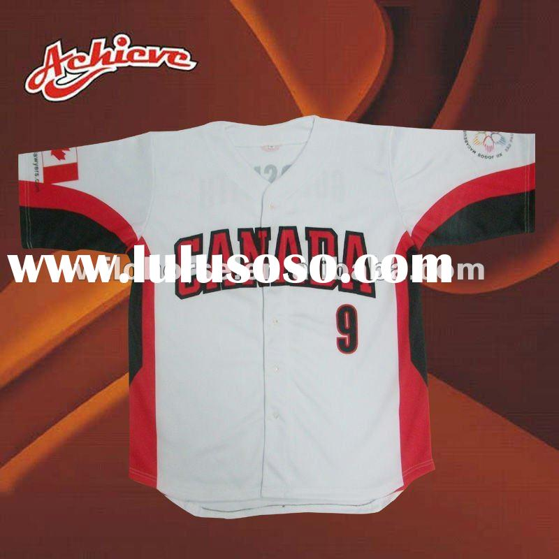 mens custom make sublimation softball jersey/wear