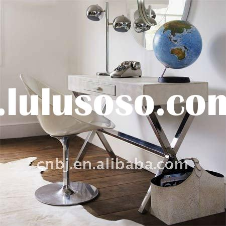 modern beauty chic design stainless steel and leather vanity dressing table