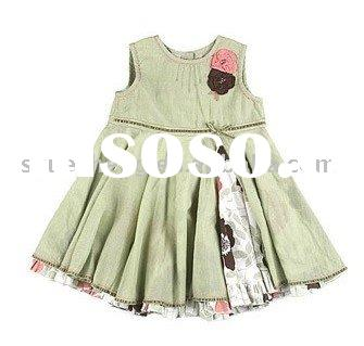 organic cotton & bamboo baby girl dress