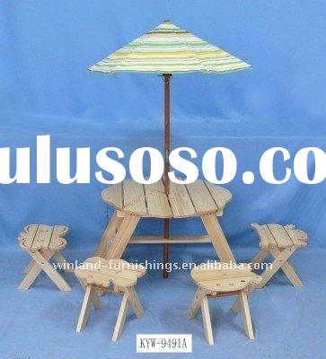 picnic table and chair-children furniture