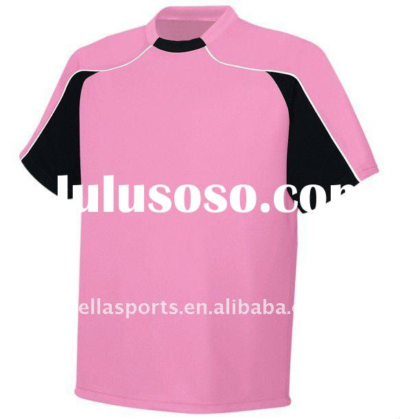pink soccer jersey 2011-12 sports shirt design,custom OEM sports jersey soccer kits,fans club unifor