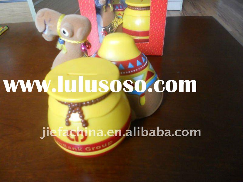 plastic coin bank in Camel Shape