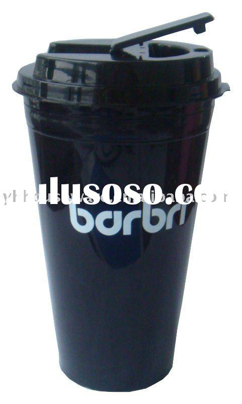 plastic double wall travel mug