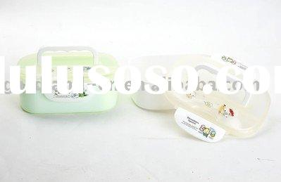 plastic lunch boxes (rectangle with handle)
