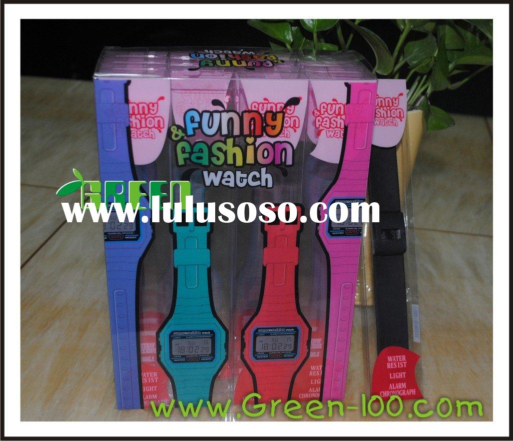plastic pvc box with offset printing watch box