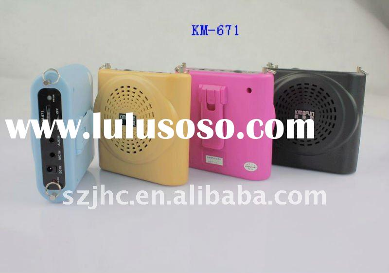 portable waistband amplifier with headset microphone mini digital voice amplifier