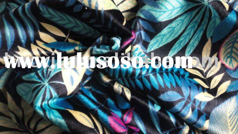 printed flower design home textile fabric