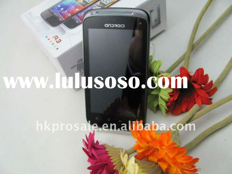 quad band dual sim card 3G phone A3 with wifi gps and Android 2.2.3.4