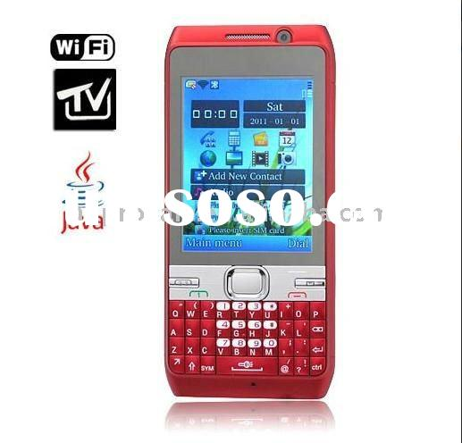 quadband mobile phone F917( red and black)wifi tv QWERTY Keyboard - Support Three SIM Cards/ Dual Ca