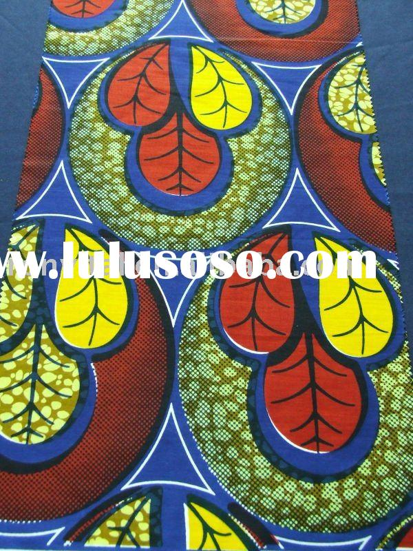 real wax block print fabric/african textiles real wax printed/super wax print fabrics !!(R17013)
