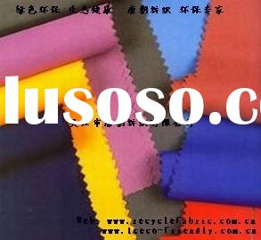 recycle PET peach skin fabric+waterproof/RPET fabric/recycled polyester fabric/coco bottle fabric