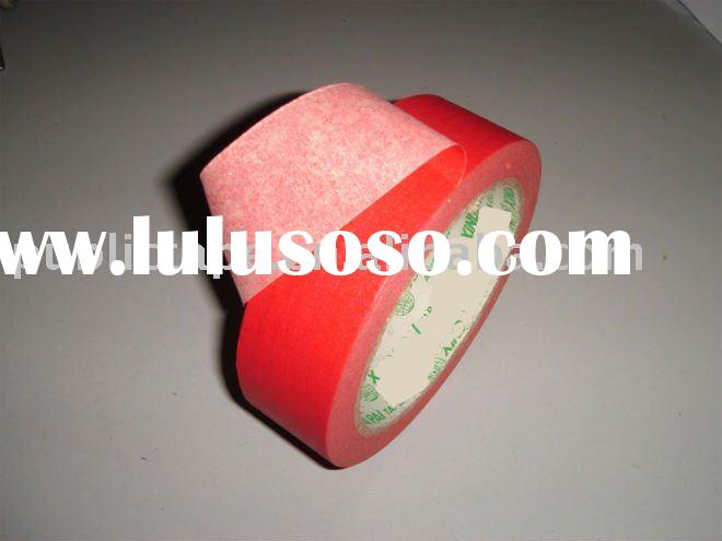 red crepe tape masking adhesive paper tape high temperature thermostability masking tape