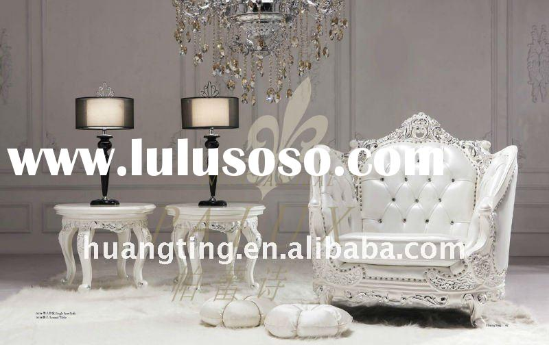 royal small round end table/ high end round coffee table/elegant french style living room furniture