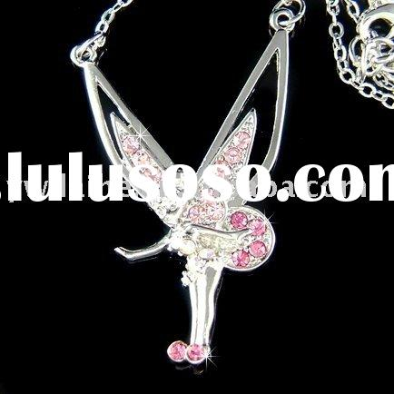 silver alloy Tinkerbell charms necklace