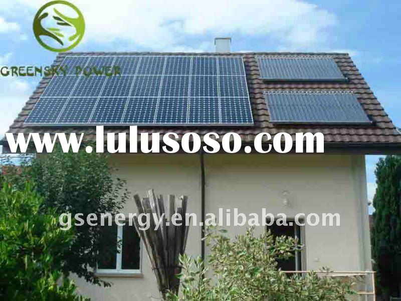 solar electric generator for home use