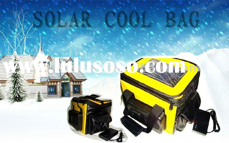 solar ice cooler bag , can automatic cooling