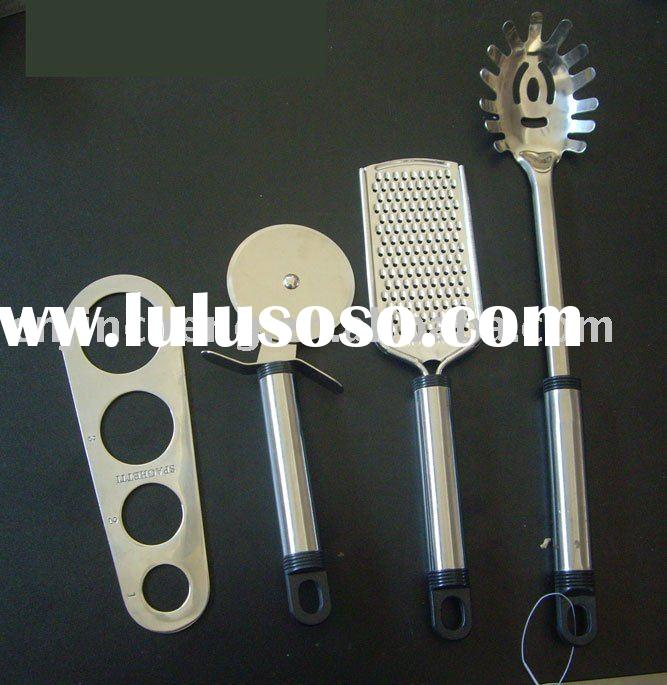 stainless steel pasta tool set with white box
