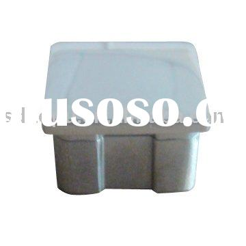 stainless steel square tube end cap