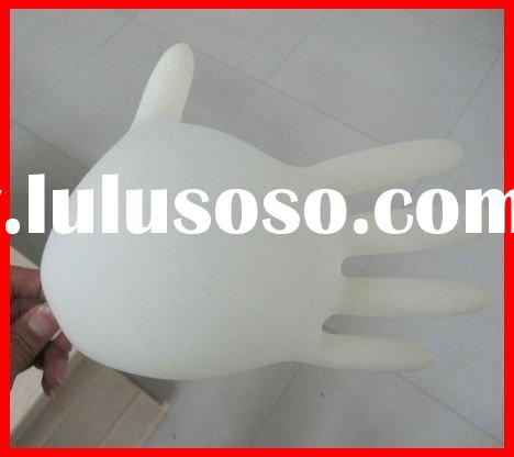 sterile disposable latex examination gloves for food use CE