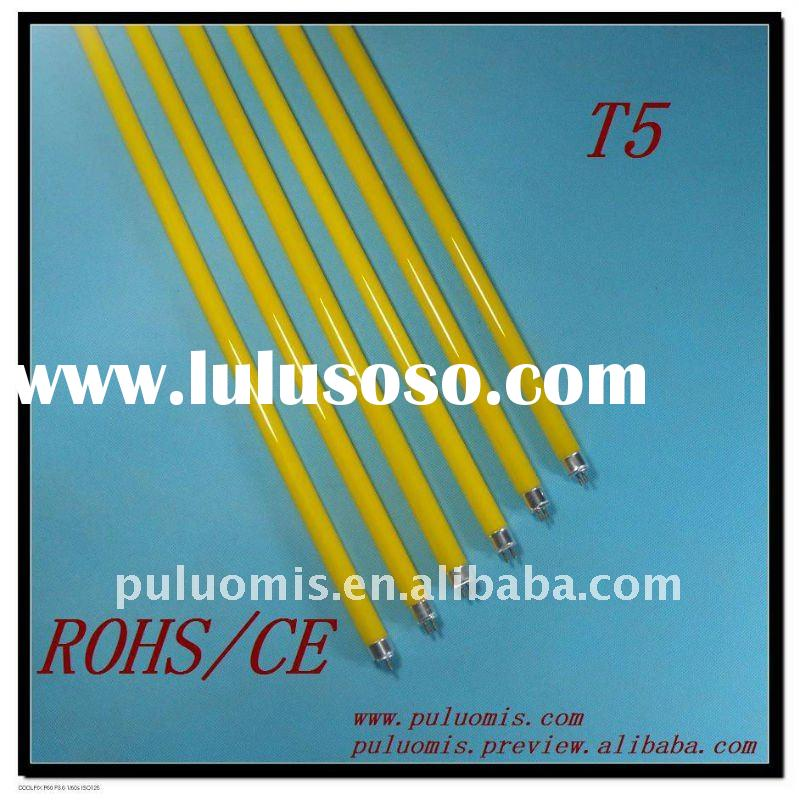 t5 6/8/28w yellow color fluorescent lamp tube