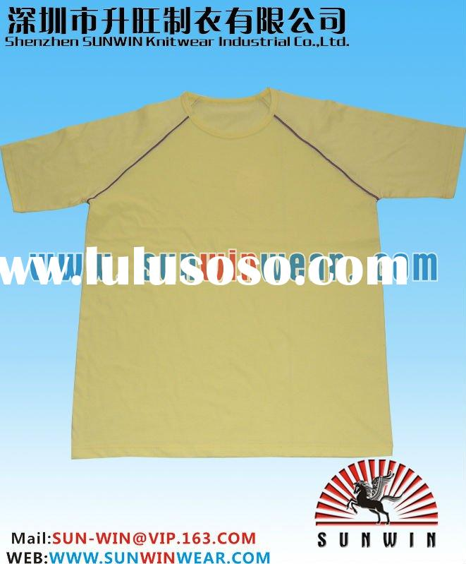 t-shirts custom design,constrast piping on armhole,100% high quality cotton