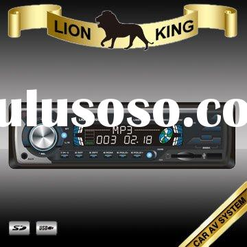 universal in dash 1 din deckless car radio with fixed panel