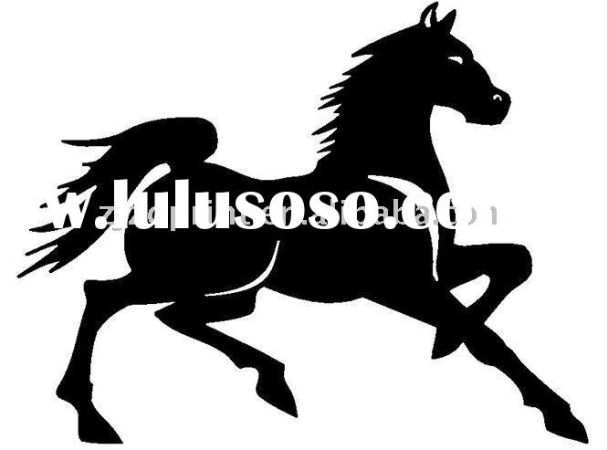 vinly fashion horse decorative wall stickers