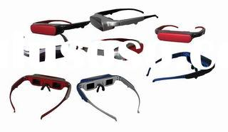 vision video glasses for ipod,psp,DVD,TV,car player,camera,mobile phone,mp4,mp5 form China factory