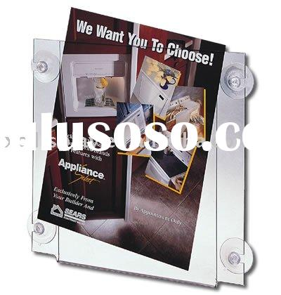 wall mount acrylic sign holder poster frame photo frame with sucker