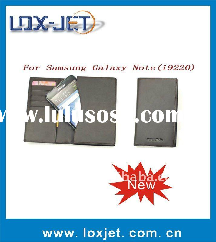 wallet leather case for Samsung galaxy note i9220 N7000 paypal