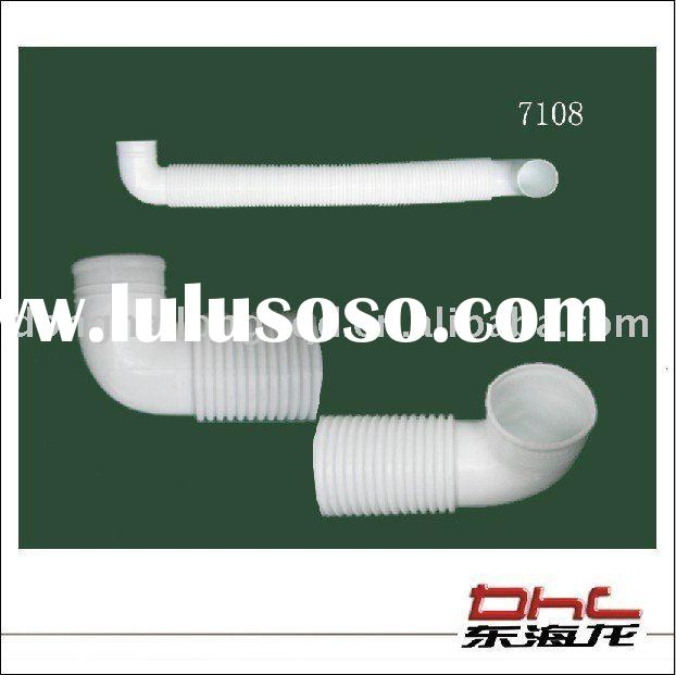 washing machine internal plastic drain pipe and pipe fitting , hose connector