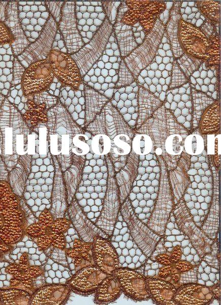 water-soluble chemical embroidery fabric for fashion dress