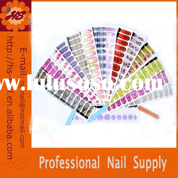 water-transfer nail decal/full cover nail sticker