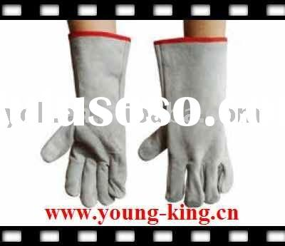 welding gloves asbestos/leather safety glove/clute cut back/unlined/full lined/grain leather on palm