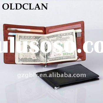 wholesale!! Leather money clip/money clip wallet/leather wallet with clip
