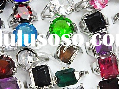 wholesale mixed lots rings Fashion Jewelry,cz crystal metal alloy with platinum plated ring