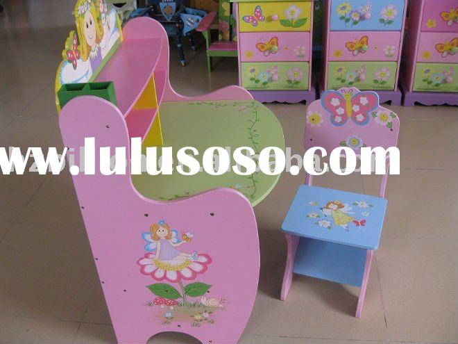 wooden children study table kids furniture learning stable