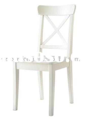 """wooden dining room chair w/o fabric seat --""""X"""" back"""