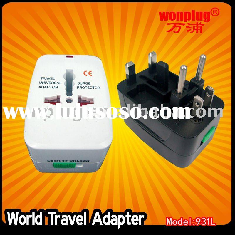 world travel adapter/USB charger,Universal travel plug adapter