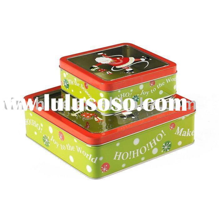x'mas gift tin box set