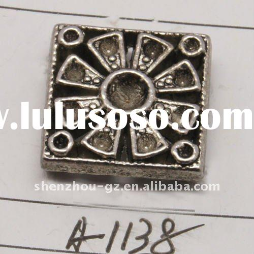 zinc alloy nickle free component,zinc alloy jewelry finding&connector, square shape,CV-0172