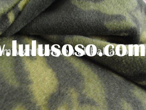 100% FDY polyester printed camo polar fleece