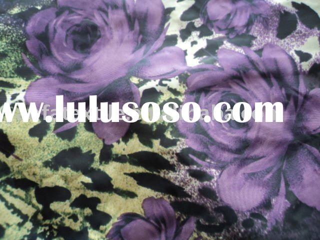 100% Polyester flower printed Fabric