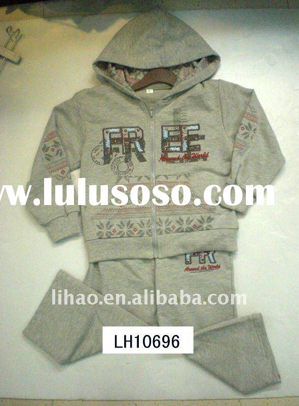 100%cotton french terry boy's jogging set