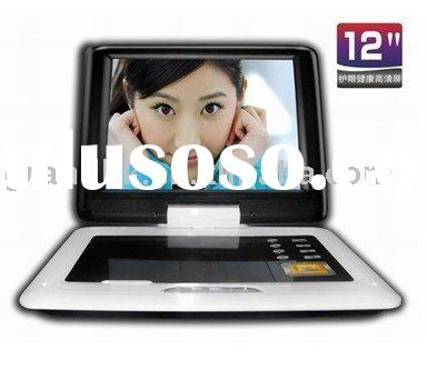 12 inch high-definition TFT LCD portable DVD
