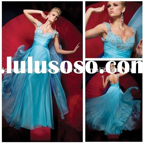 2011 New Arrival Cap Sleeves Formal Evening Gowns