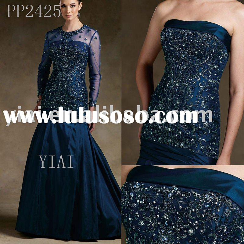 2011 Wholesale Free Shipping High Quality Gorgeous Beaded mother of the bride gown PP2425