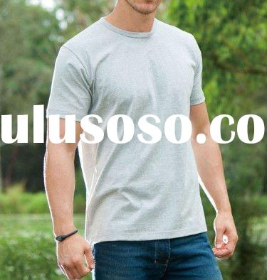 2011 fashion 100% cotton Breathable Audlts fitted OEM service short sleeves men's T-shirt