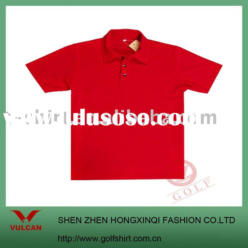 2011 fashion Red China short sleeve polo t shirt with classic design